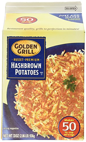 GOLDEN GRILL Russet Premium Hashbrown Potatoes 33 oz  Makes 50 Servings