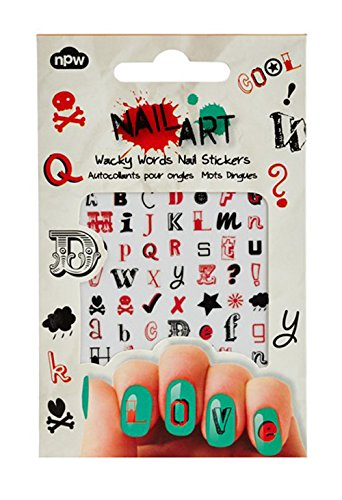 Amazon Npw Usa Nail Art Sticker Decals Wacky Words Beauty
