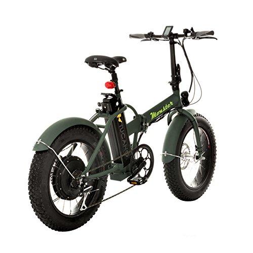 Monster 20 - Bicicleta Eléctrica Plegable - 20 Pulgadas - Motor 500W, 48V-12ah - Display LED con 9 Niveles de Ayuda - Chasis en Aluminio (Negro): Amazon.es: ...