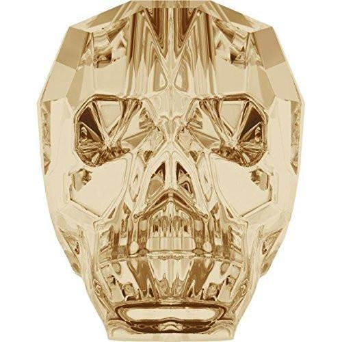 5750 Swarovski Crystal Beads Skull 13mm   Crystal Golden Shadow   13mm - Pack of 1   Small & Wholesale Packs]()