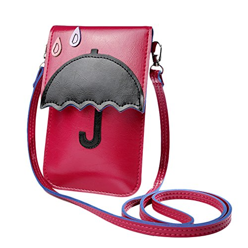 Bag Body Body Wallet Bag PU Handbags Cross Storage Bag Bag Women Red Women's Lady Shape Umbrella Shoulder Wicemoon Leather Across Cosmetic For PqEFxqwtn