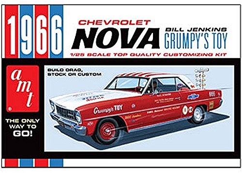 AMT 1966 Chevy Nova Bill Jenkins 1/25 Scale Plastic Model Car Kit