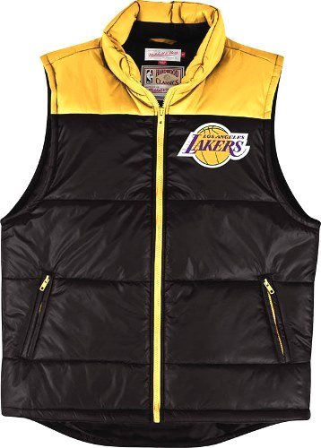 (Los Angeles Lakers Mitchell & Ness NBA Winning Team Throwback Snap Vest Jacket)