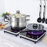 induction cooking burner - Costway 1800W Digital Induction Cooktop Countertop Burner,Electric Single Burner Hot Plate Cooktop Countertop with Timer,Temperature,Black (2)