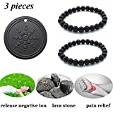 magnetic energy bracelet - Anti Radiation Shield EMF Neutralizer Negative Ions Energy Pendant & Magnetic Therapy Bracelet Pain Relief for men and women(one pack pendant and two pack bracelets)