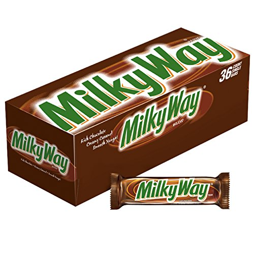MILKY WAY Milk Chocolate Singles Size Candy Bars 1.84-Ounce 36-Count - Box Chocolate 36ct Bars