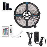 Youngist Smart WIFI Alexa RGB LED Strip Light Kit with UL adapter, Waterproof 16.4ft 300leds Super Bright, 24 Keys Remote Control,WIFI APP on Android and IOS, Compatible with Alexa and IFTTT