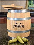 Old Fashioned Wood Pickle Barrel