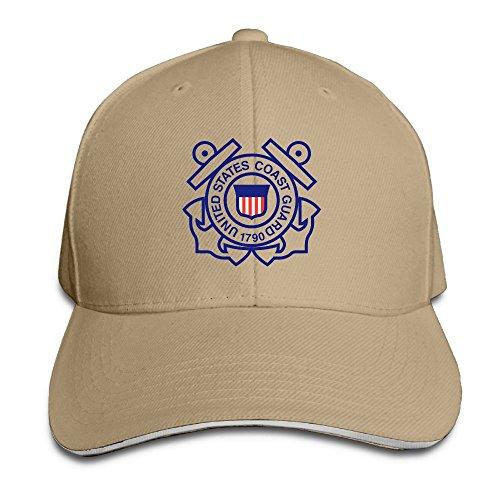 United States Coast Guard 1790 Noveity Unisex Adjustable Sandwich Hat&Sandwich Baseball Cap ()