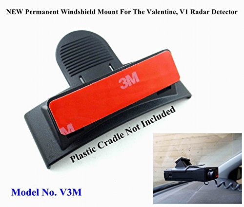 NEW Permanent Windshield Mount For The Valentine, V1 Radar Detector