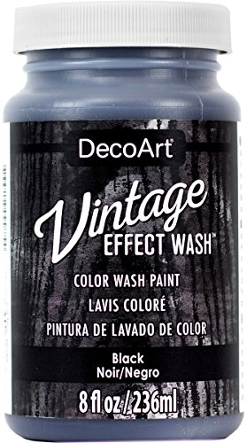 Decoart DECDCW-64.01 Vintage Effect Wash 8oz, Black