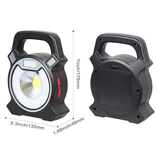 T-Sun COB LED Portable Work Light 5W 1200Lumens with Micro-USB Charging Emergency Work Light Camping Lantern Power Light by T-SUN (Image #1)