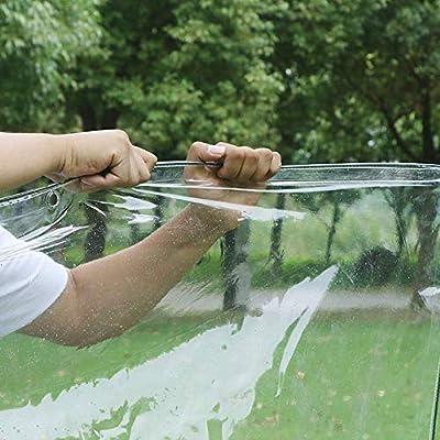 LXXTI Lona Impermeable Suelo Camping Transparente, 0.3mm Lona Impermeable Pergola, Extremadamente Resistente de Techado, de Construcción Muebles, Jardín,2mX4m(6.5x13ft): Amazon.es: Deportes y aire libre