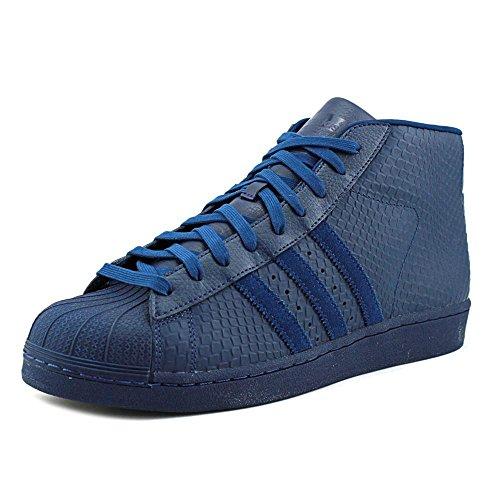 Modello Adidas Mens Pro, Bianco / Viola / Oro Metallizzato, 8,5 M Us Oxford Blu