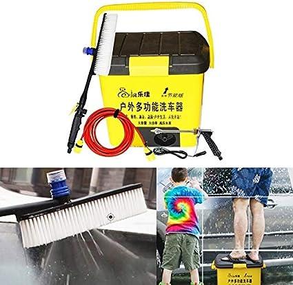 Lavadora de Autos y Accesorios Al Aire Libre de múltiples Funciones del Coche eléctrico Lavadora automática de Lavado de vehículos Herramientas LEJA HL-25L (Amarillo) (Color : Yellow)
