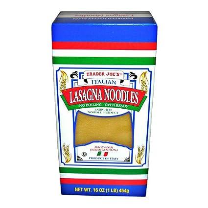 Amazon Com Trader Joe S No Boil Italian Lasagna Noodles