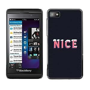 Paccase / SLIM PC / Aliminium Casa Carcasa Funda Case Cover para - Popular Nice Ice Quote Snow Winter Season Life Positive - Blackberry Z10