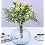 Skyseen-Artificial-Flowers-Eucalyptus-Leaf-Babys-Breath-Gypsophila-Rose-Bouquets-Wedding-Party-Home-DecorPack-of-3White