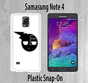 Death the Kid Custom made Case/Cover/skin FOR Samsung Galaxy Note 4 -White- Plastic Snap On Case ( Ship From CA)