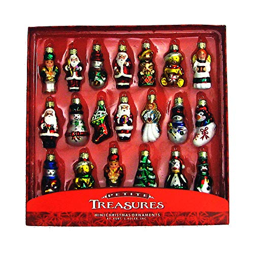 - Kurt Adler 20-Piece Petite Treasures Glass Ornament Set