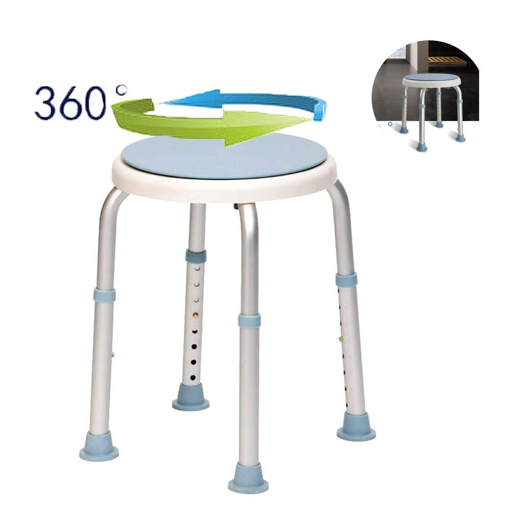 WYQWANLJX Elderly Bath Chair, Rotating Bath Stool, Portable Medical Stool, Bathroom Bathroom Stool, Pregnant Women and Children Bath Chair, Stool Surface 360° Rotation,Gift for Parents by WYQWANLJX