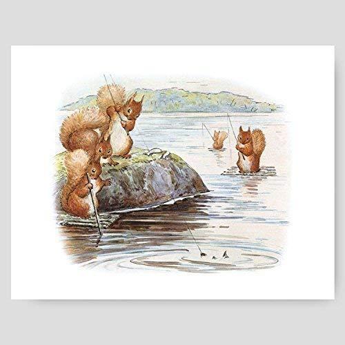 Beatrix Potter Print (Peter Rabbit Wall Art, Baby Boy Nursery Decor)