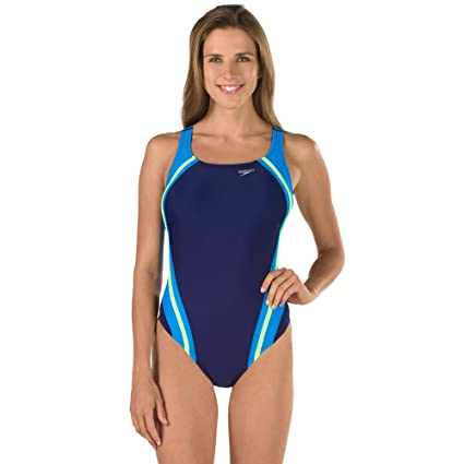 44e959ac774 Buy Speedo Quantum Splice Powerflex Eco One Piece Swimsuit, Starry Blue,  Size 8 Online at Low Prices in India - Amazon.in