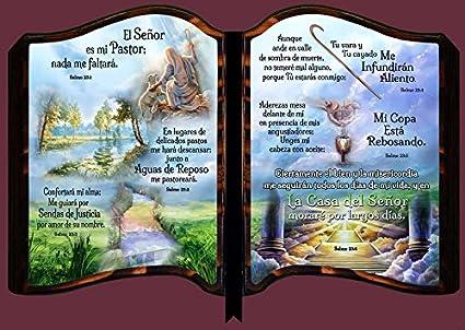 Amazon.com: cuadro cristiano 01802 bbr salmo 23 collage size. 10