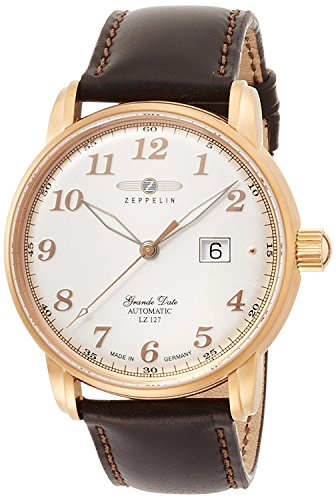 ZEPPELIN watch Graf silver dial automatic winding 7652-5 Men's