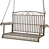 Best Choice Products Iron Patio Hanging Porch Swing Chair Bench Seat Outdoor Furniture For Sale