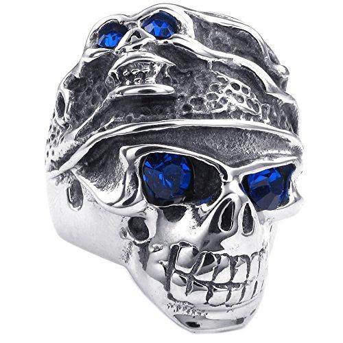 KONOV Stainless Gothic Tribal Silver