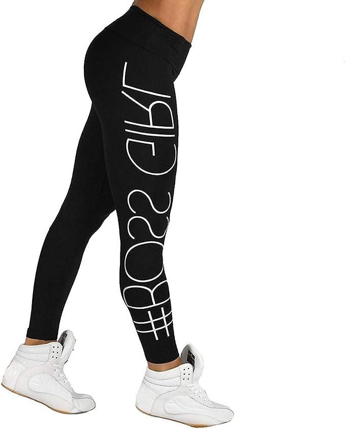 HTDBKDBK Yoga Pants, Women High Waist Sports Gym Yoga Running Fitness Leggings Pants Athletic Trouser Leggings-BOSS Girl