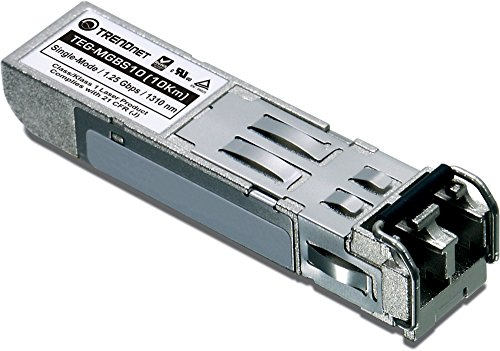 TRENDnet Gigabit SFP module, Single-Mode, Mini-GBIC, Up to 10 km, TEG-MGBS10