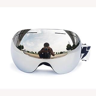 QXHMYJ Occhiali da Sci Double Floor Lenti intercambiabili Occhiali Anti-Fog Sci/Snowboard per Uomo e Donna Protezione UV 100%, Silver LUYAN