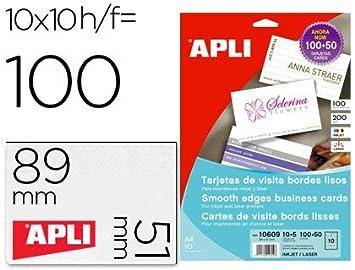 Carte De Visite APLI 185 Gr Finition Mat 89 X 51 Mm Imprimante Ink Jet