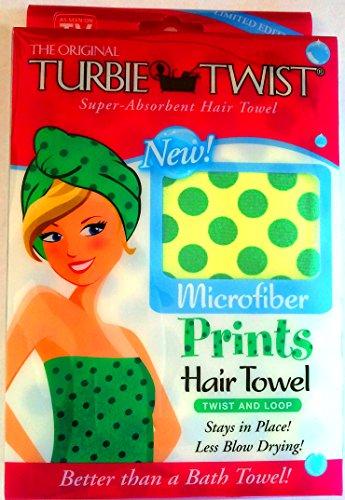 Turbie Twist Christmas Collection Polka Dots (Green Polka Dots)