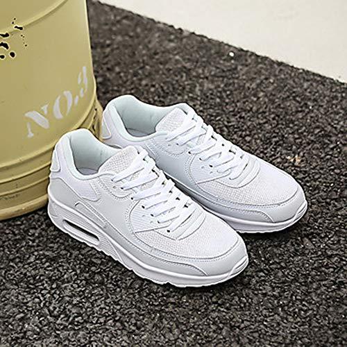 Polyuréthane Plat Lacet CN35 US5 White Automne Rond Printemps EU36 Blanc À Talon Chaussures 5 Femme TTSHOES 5 Course Pied UK3 Basket Noir Bout xqwvEp