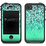 Teal Sparkle Ombre Skin Decal for Lifeproof iPhone 4/4S Case Design (Case not included)