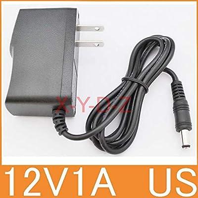 Muccus 1pcs 12V1A 100% New AC 100V-240V Converter Power Adapter DC 12V 1A 1000mA Power Supply US Plug DC 5.5mm x 2.1mm