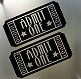 Admit One home Theater wall decal sticker, Black