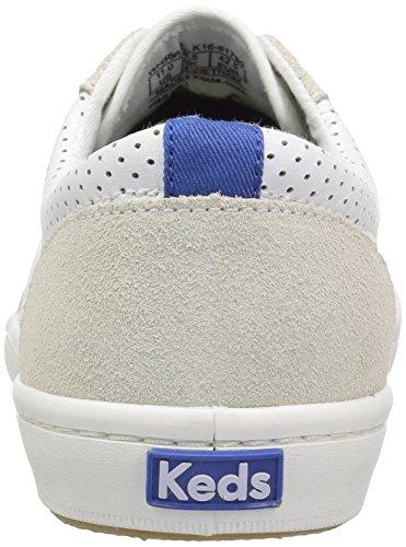 Keds Dames Toernooi Retro Kunstleer Lederen Fashion Sneaker Wit / Blauw