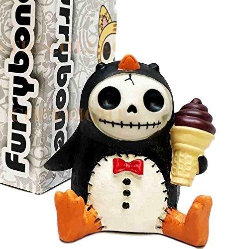 Furrybones Pen Pen Penguin Tuxedo Ice Cream Skeleton Monster Ornament Figurine -