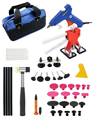 Furuix 53pcs Paintless Dent Repair Kit PDR Rods C Series Dent Puller Kit Dent Lifter Paintless Dent Removal PDR Kit Door Ding Repair by Furuix (Image #4)