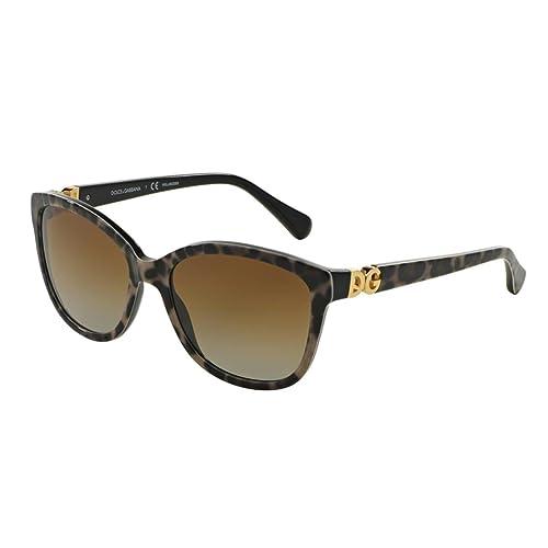 Dolce & Gabbana Occhiali da sole urbano Cateye essenziale in Leopard sul nero DG4258 1995T5 56
