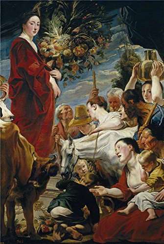 Oil Painting 'Jordaens Jacob Offering To Ceres Ca. 1619', 18 x 27 inch / 46 x 68 cm , on High Definition HD canvas prints is for Gifts And Garage, - Windsor Frames Eyeglass