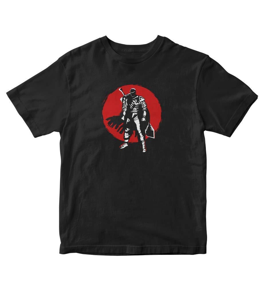 Guts Berserk Silhouette Red Moon Anime Manga Black Shirt S A261