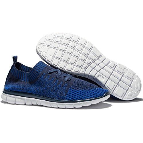 Changping Herren Laufschuhe Leichte Sport Sneakers Blau