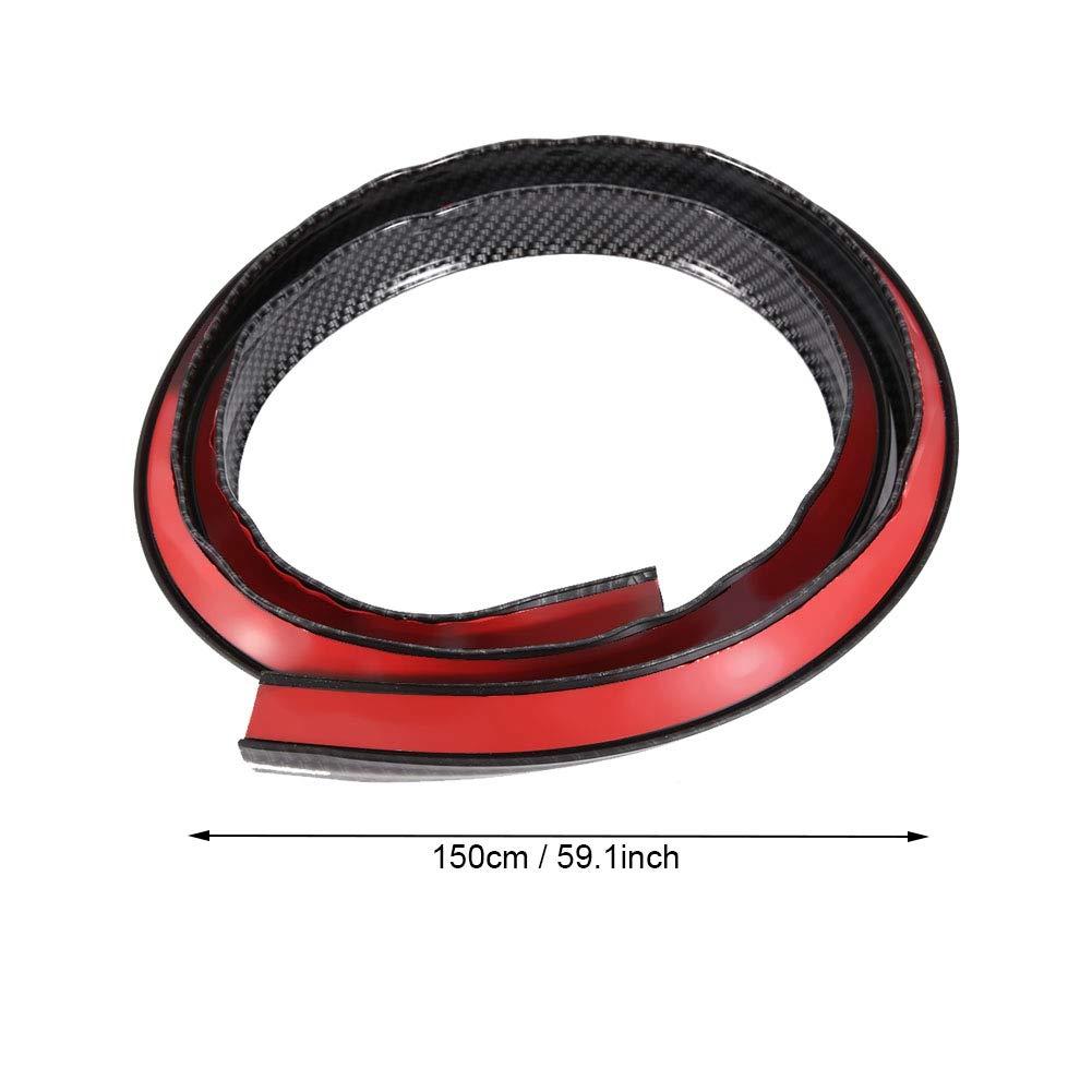 Negro Gorgeri fibra de carbono PASOS DE RUEDA coche exterior Guardabarros de rueda cejas Protect Anti-Bloc de notas Motors piezas y accesorios