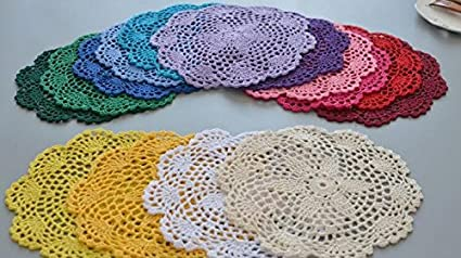Buy Generic Round Diy Crochet Table Mat Placemat Table Cloth Cover