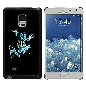 Planetar® ( Blue Fringe Frog ) Samsung Galaxy Mega 5.8 / i9150 / i9152 Fundas Cover Cubre Hard Case Cover